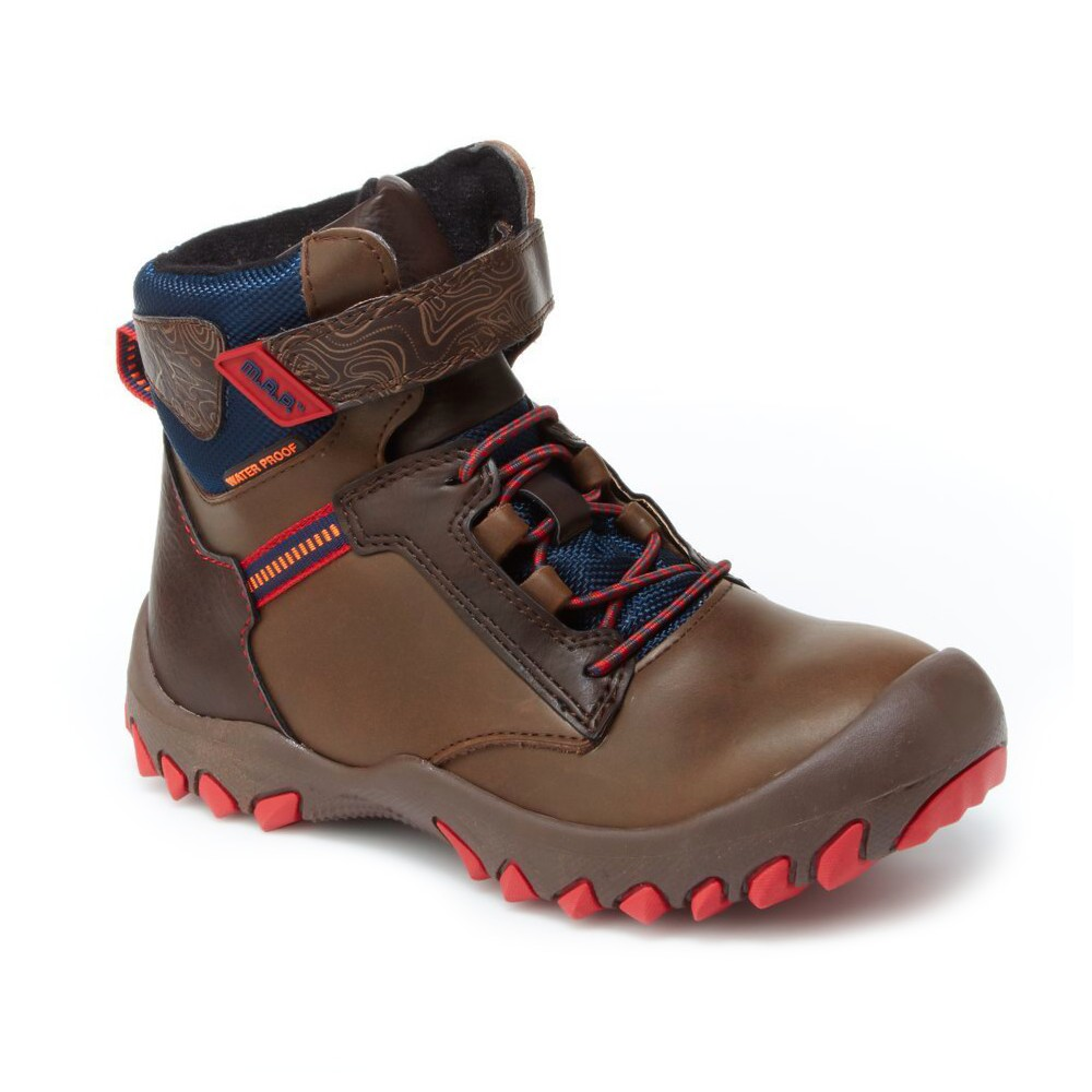 Boys M.A.P. Rainer Hiking Boots 4 - Brown