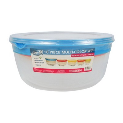 Multicolor Press and Click Food Storage Container - 10ct -Stor-All Solutions