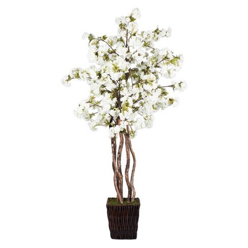 Artificial Cherry Blossom Heartland (6ft) White - Vickerman® - image 1 of 1
