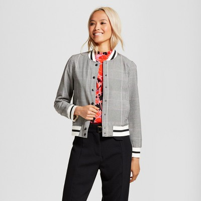 view Women's Varsity Bomber Jacket - Who What Wear on target.com. Opens in a new tab.