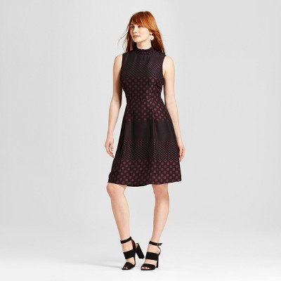 view Women's Smocked Neck Mini Dress - Who What Wear on target.com. Opens in a new tab.