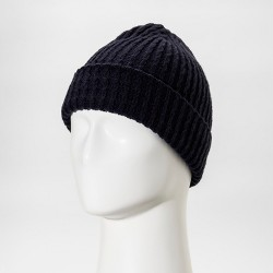 Men's Cable Fisherman Beanie With Embroidered Grade A Patch - Goodfellow & Co™ Navy
