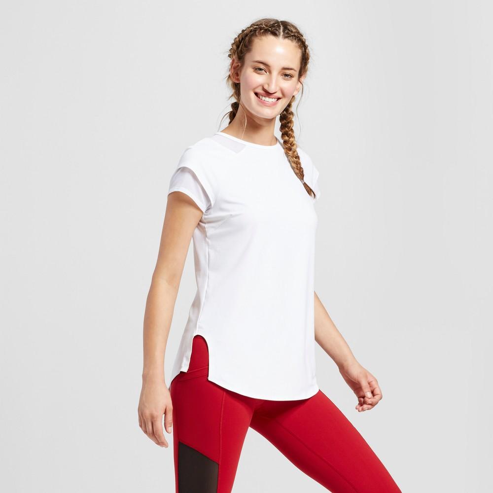 Womens Mesh Trim T-Shirt - JoyLab White M