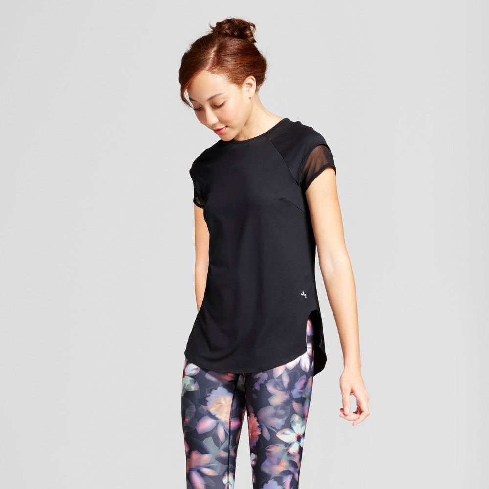 Womens Mesh Trim T-Shirt - JoyLab Black S