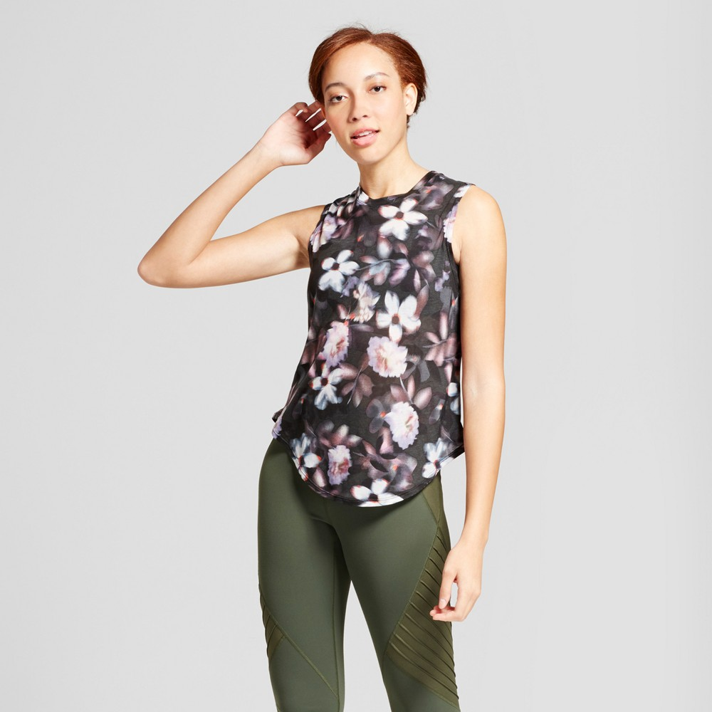 Womens Muscle Tank - JoyLab Floral Print XS, Multicolored