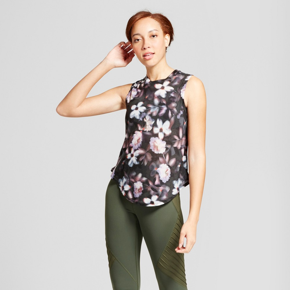 Womens Muscle Tank - JoyLab Floral Print S, Multicolored