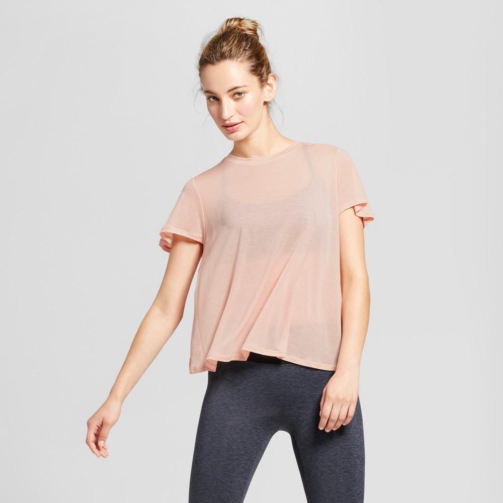 Womens Flutter Back T-Shirt - JoyLab Blush S