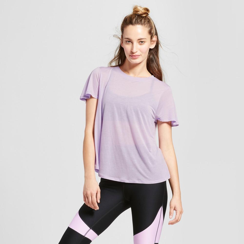 Womens Flutter Back T-Shirt - JoyLab Lavender Haze XL