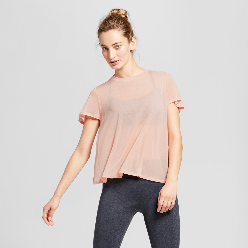 Womens Flutter Back T-Shirt - JoyLab Blush XS