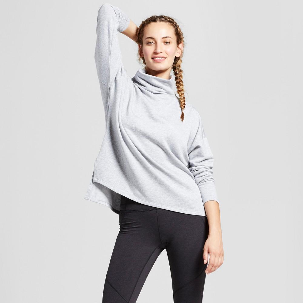 Womens Turtleneck Cozy Layering Sweatshirt - JoyLab Heather Gray L