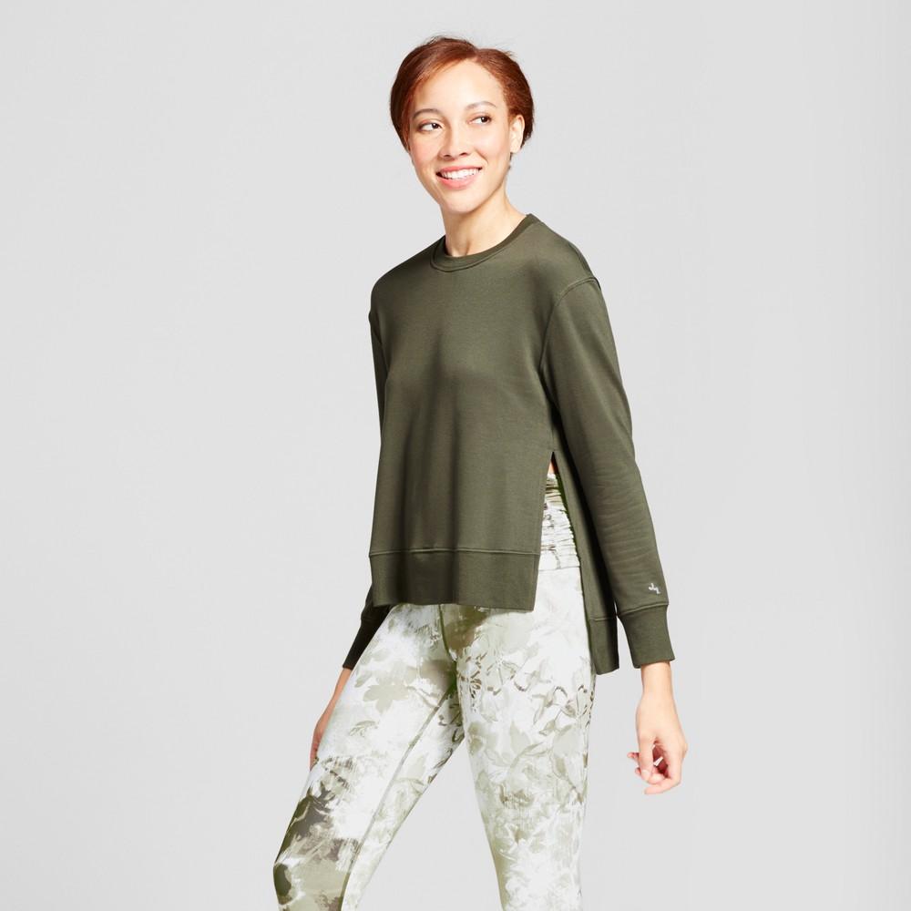 Womens Cozy Layering Sweatshirt - JoyLab Deep Olive L