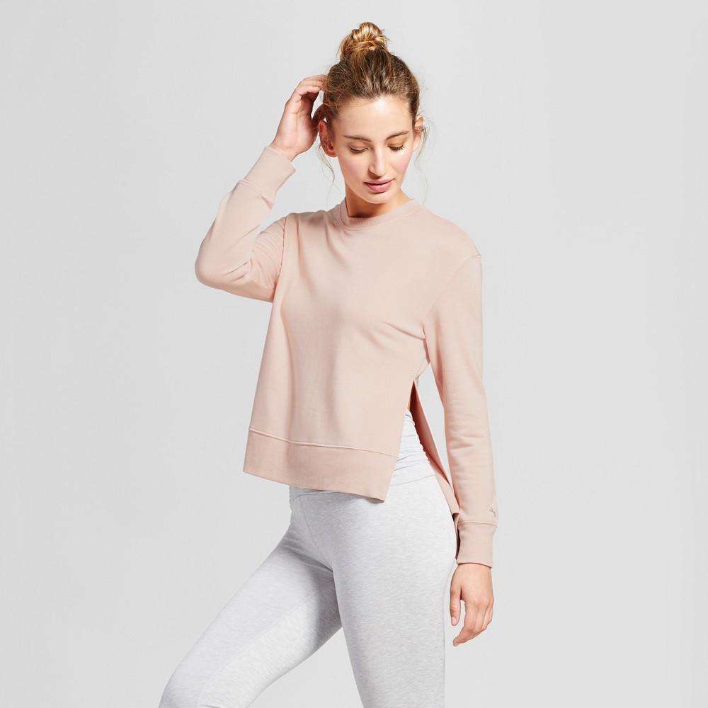 Womens Cozy Layering Sweatshirt - JoyLab Blush XS