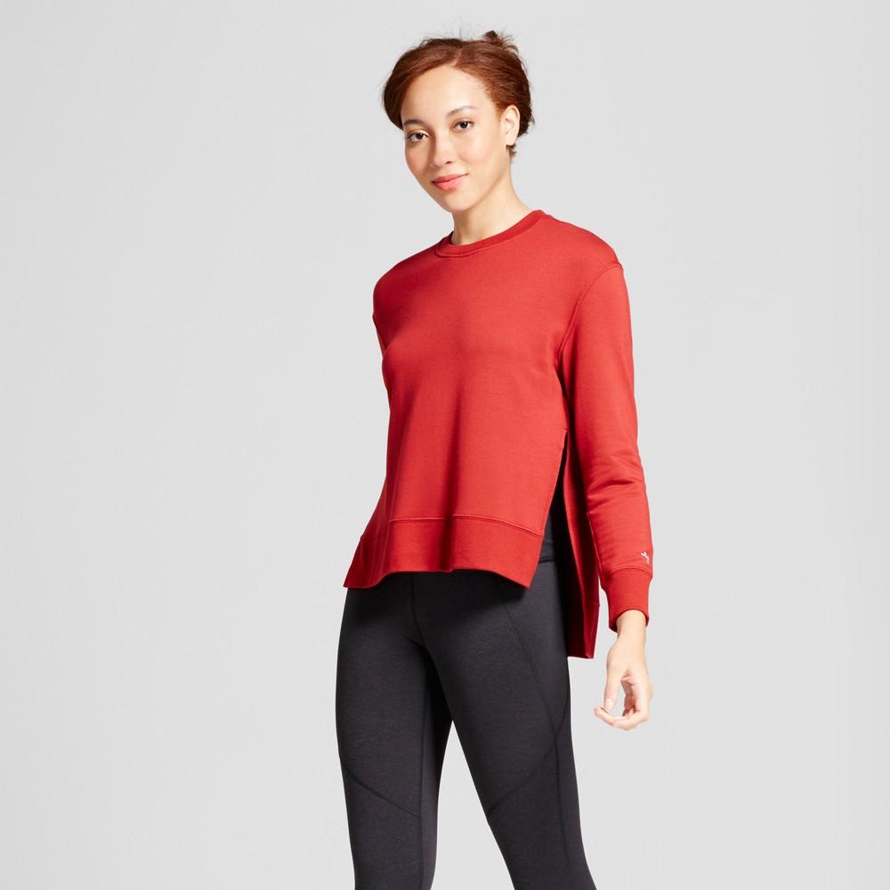 Womens Cozy Layering Sweatshirt - JoyLab Crimson (Red) XS