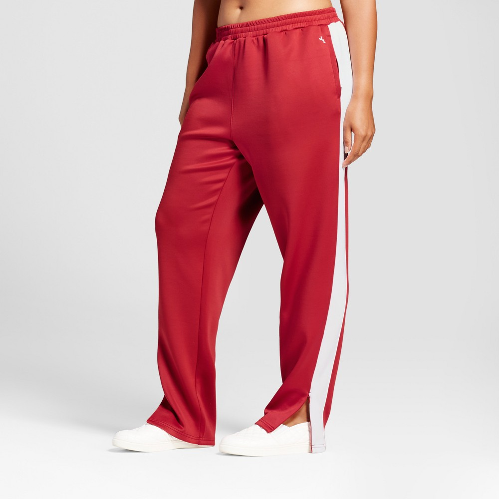Plus Size Womens Plus Track Pant - JoyLab Crimson 2X, Red