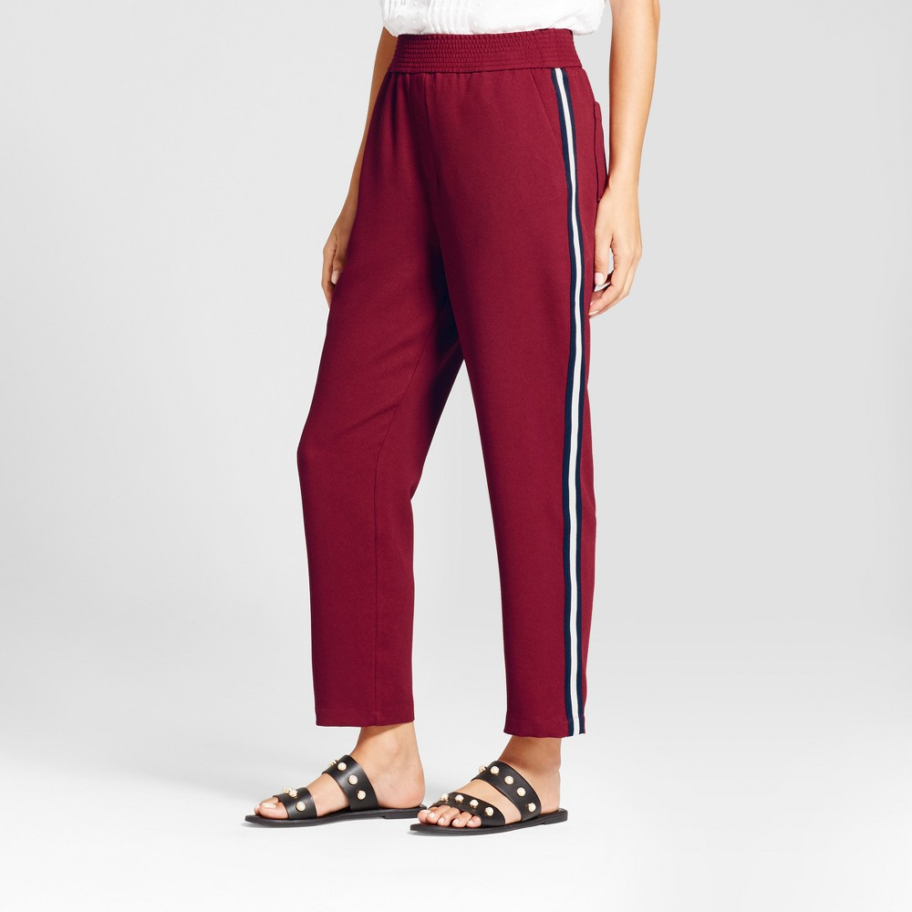 Womens Straight Leg Track Pants - A New Day Cherry (Red) XS