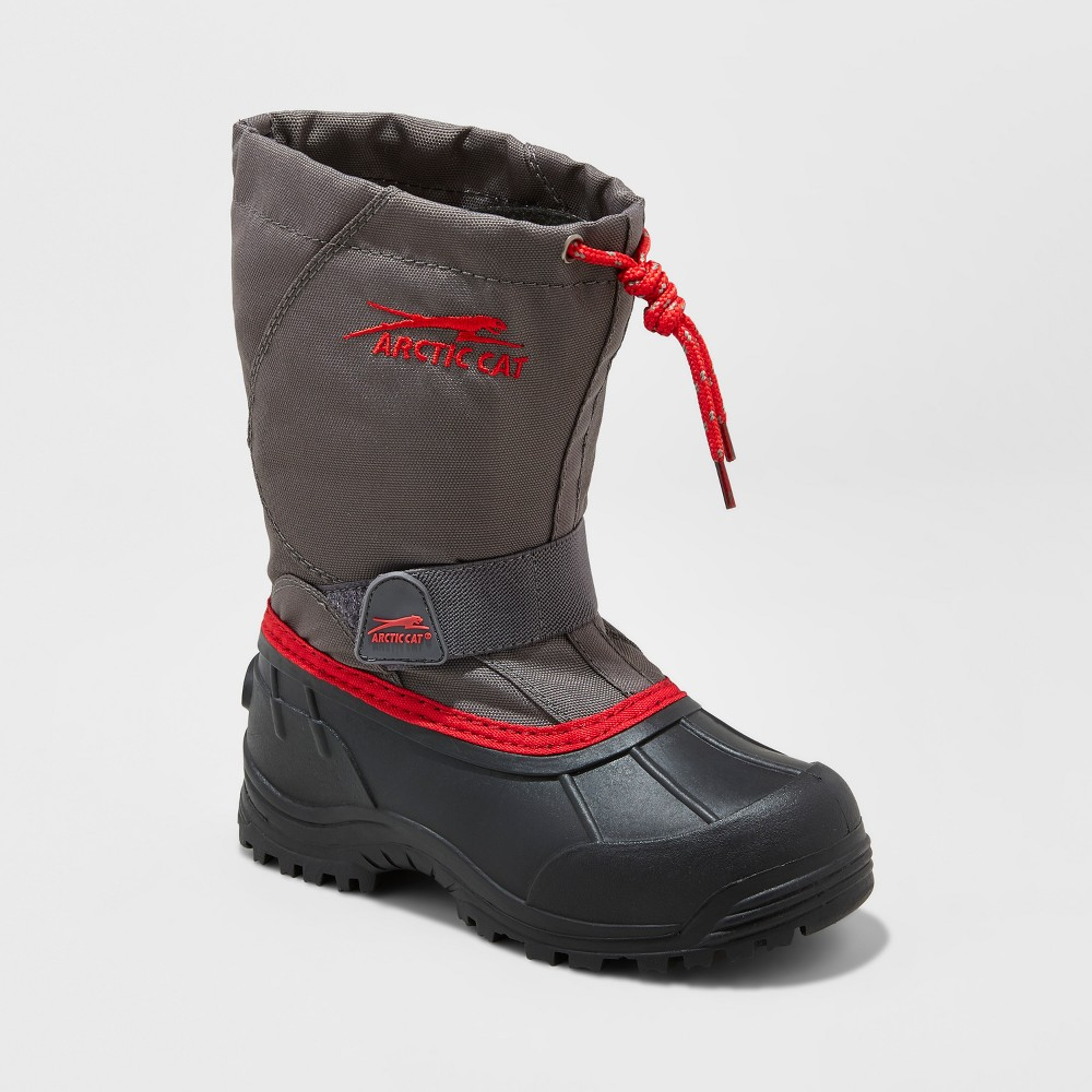 Toddler Boys Arctic Cat Snowshower Winter Boots - Gray 10
