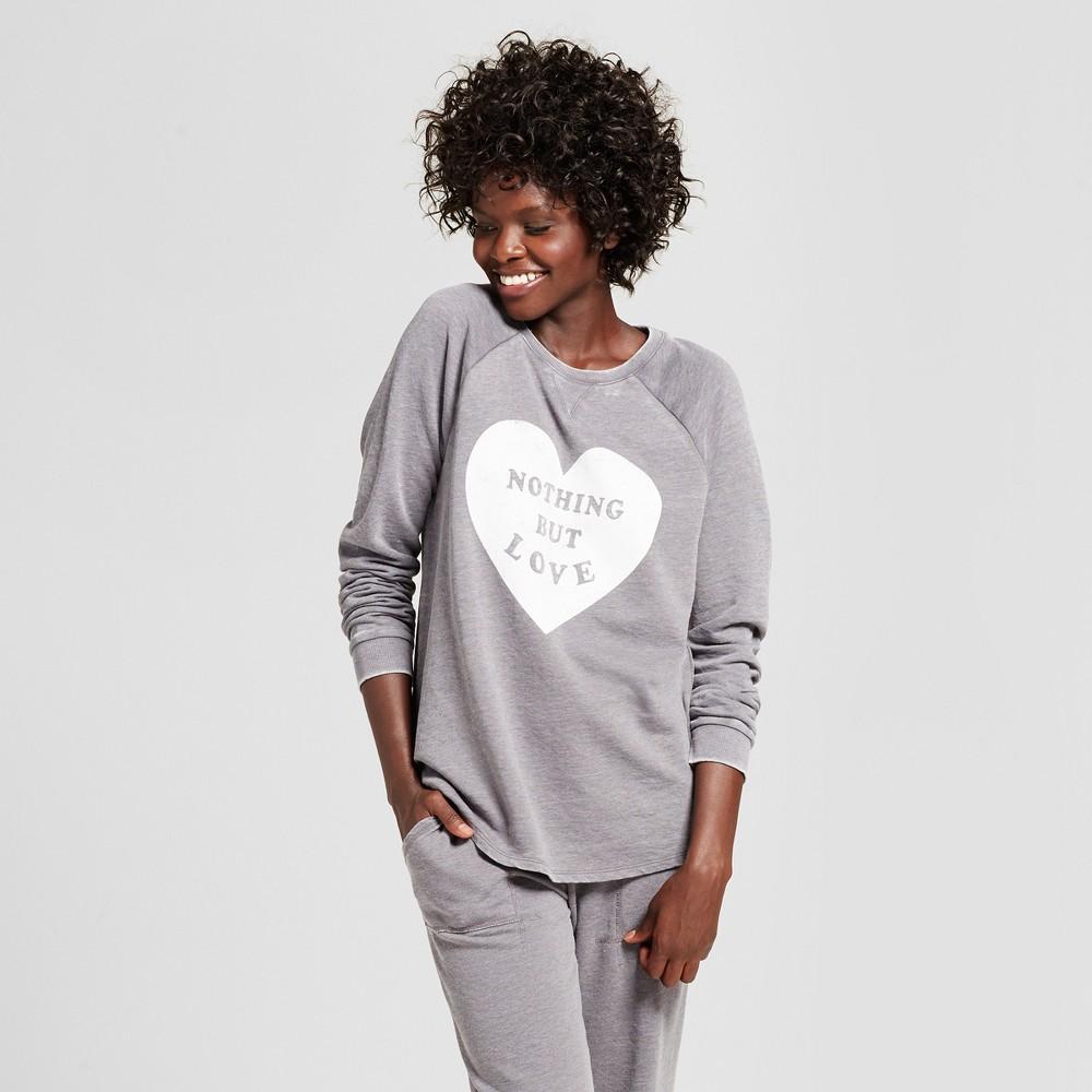 Womens Sleep Sweatshirt - Xhilaration Nickel Heather S, Gray