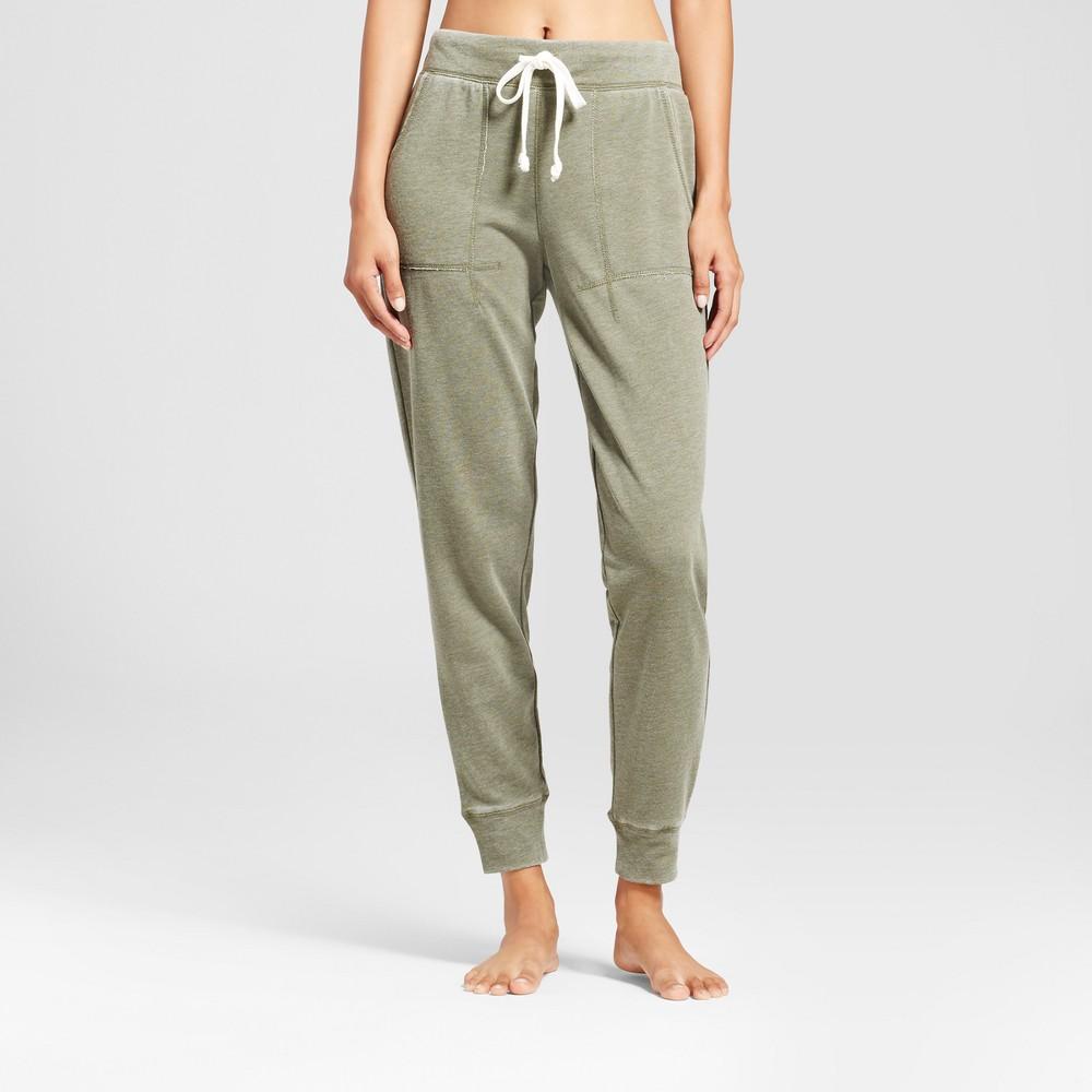 Womens Jogger Pajama Pants - Xhilaration Moss XL, Green