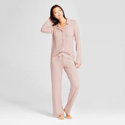 Women's 2pc Pajama Set - Gilligan & O'Malley™ Palm Beach Pink S