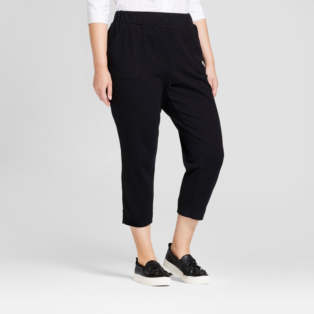 Womens Plus Size Leisure Jogger - A New Day Black 3X