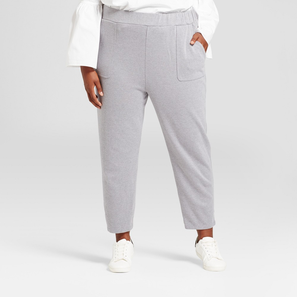 Womens Plus Size Leisure Jogger - A New Day Gray X