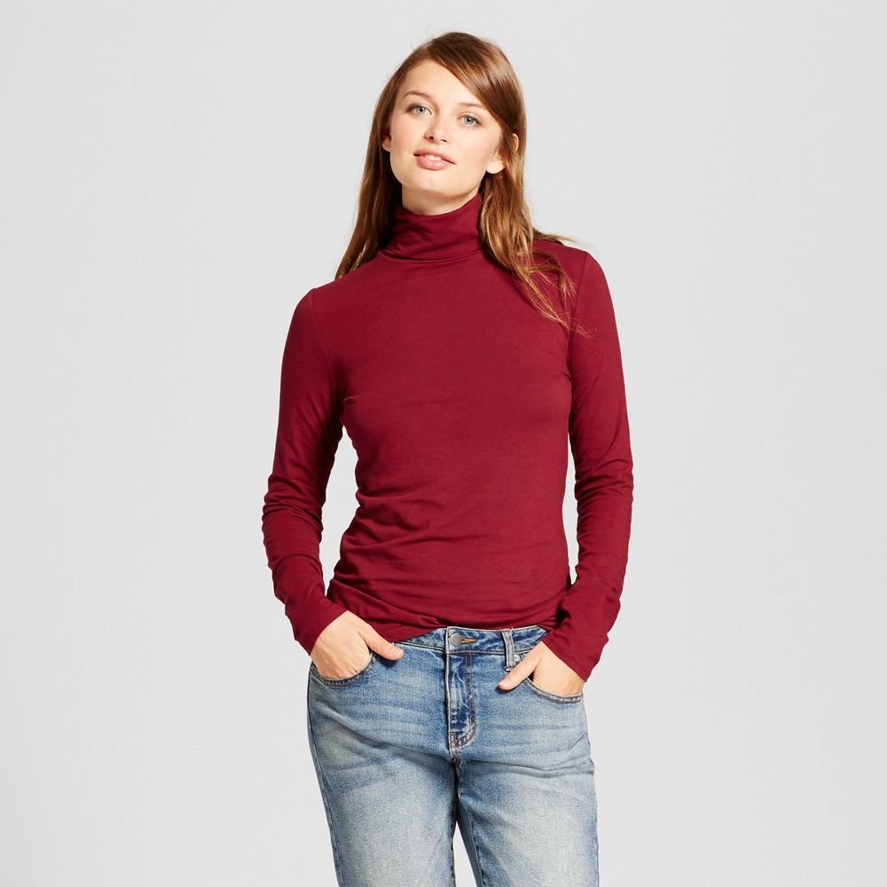 Womens Long Sleeve Turtleneck - A New Day Burgundy (Red) Xxl