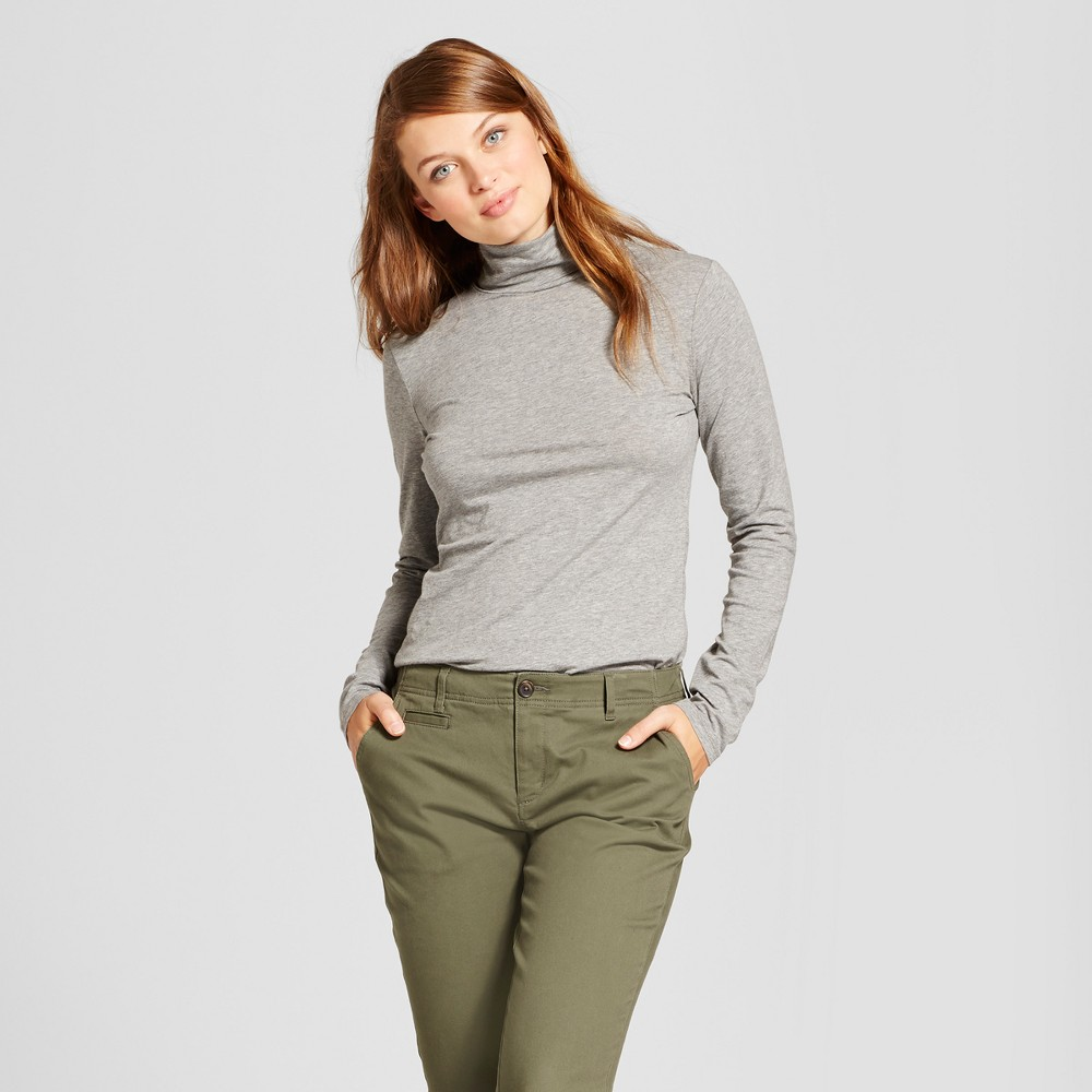 Womens Long Sleeve Turtleneck - A New Day Heather Gray Xxl