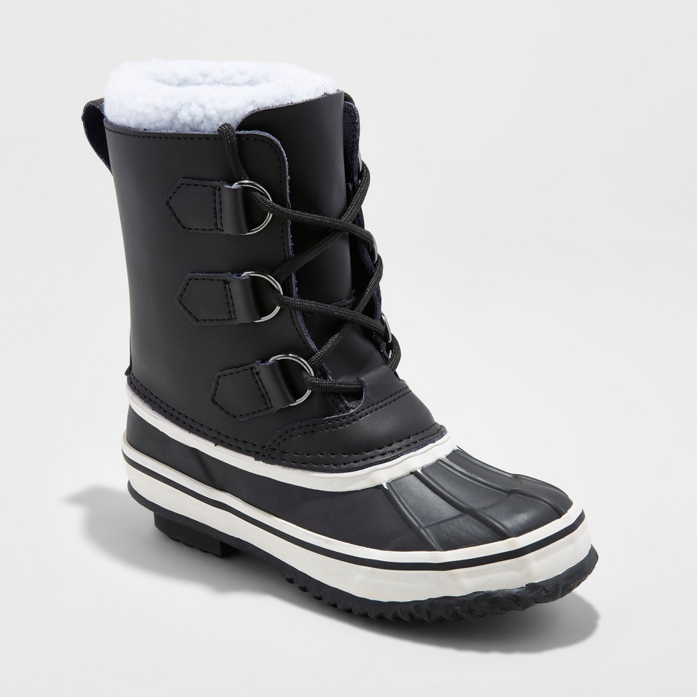 Boys Winston Winter Boots - Cat & Jack Black 1