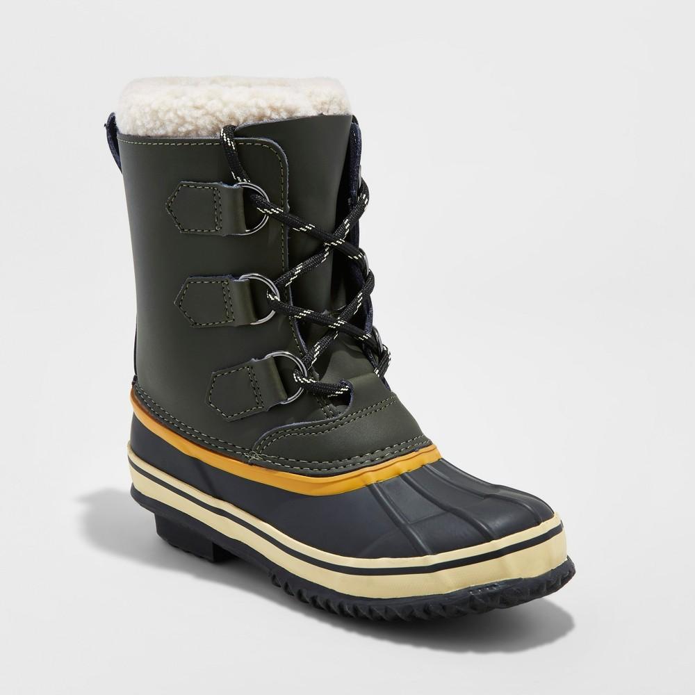 Boys Winston Winter Boots - Cat & Jack Green 13