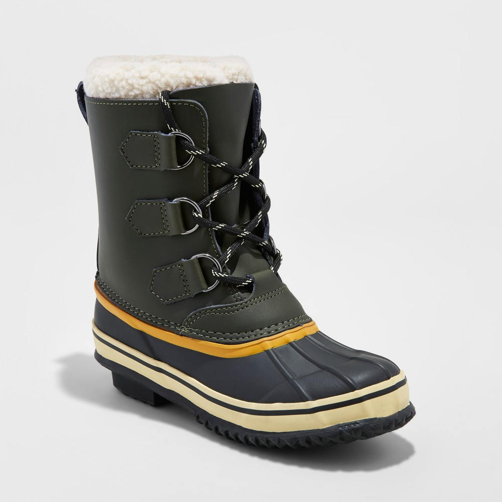 Boys Winston Winter Boots - Cat & Jack Green 4