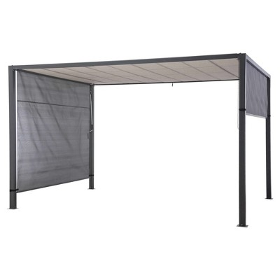 Louvered 12'X10' Pergola - dark grey - Sunjoy