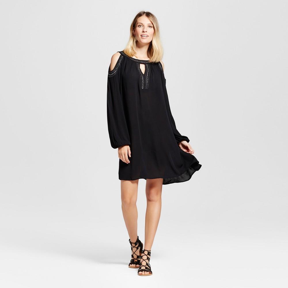 Womens Embellished Cold Shoulder Dress - Knox Rose Black M