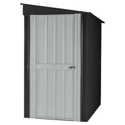 4'X6' Metal Lean-To Shed Slate - Gray - Globel