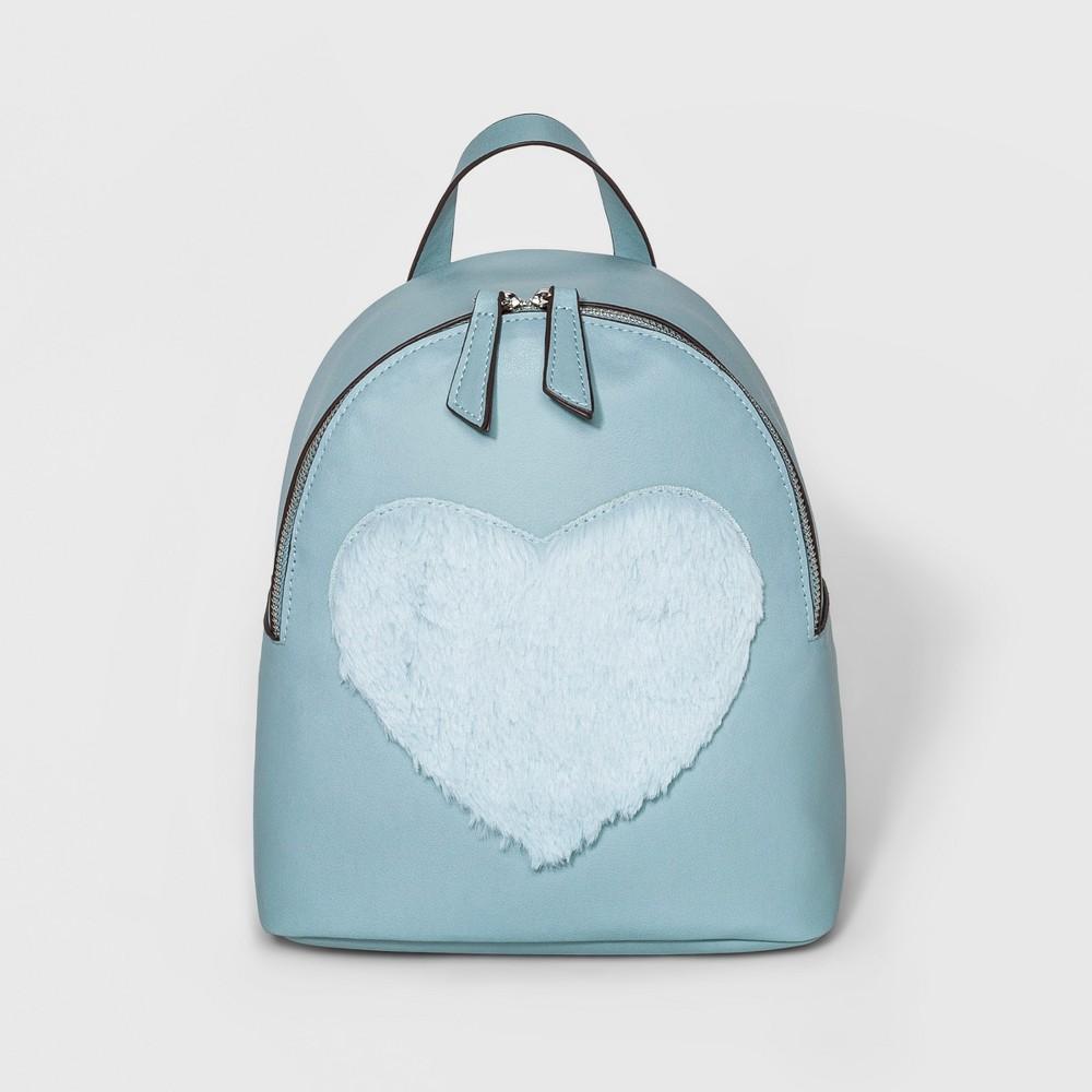 T-Shirt & Jeans Womens Heart Mini Backpack - Mint (Green)