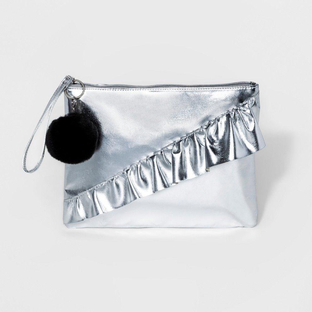 T-Shirt & Jeans Womens Pouch - Silver