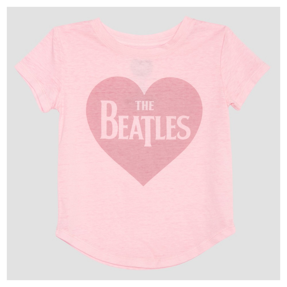 Toddler Girls The Beatles Mini Cap Sleeve T-Shirt - Light Pink 3T