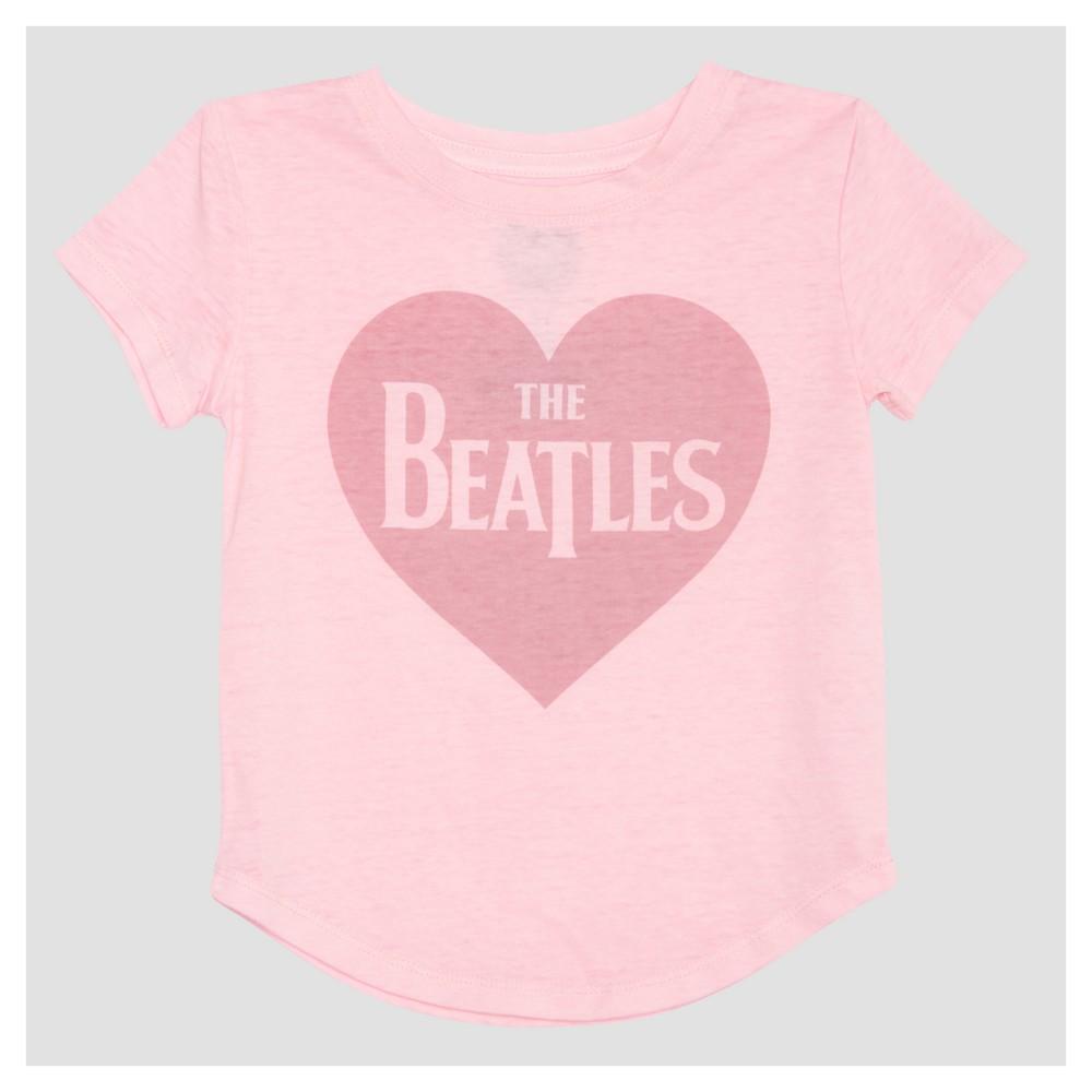 Toddler Girls The Beatles Mini Cap Sleeve T-Shirt - Light Pink 5T