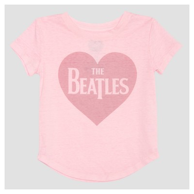 Toddler Girls' The Beatles Mini Cap Sleeve T-Shirt - Light Pink 12M