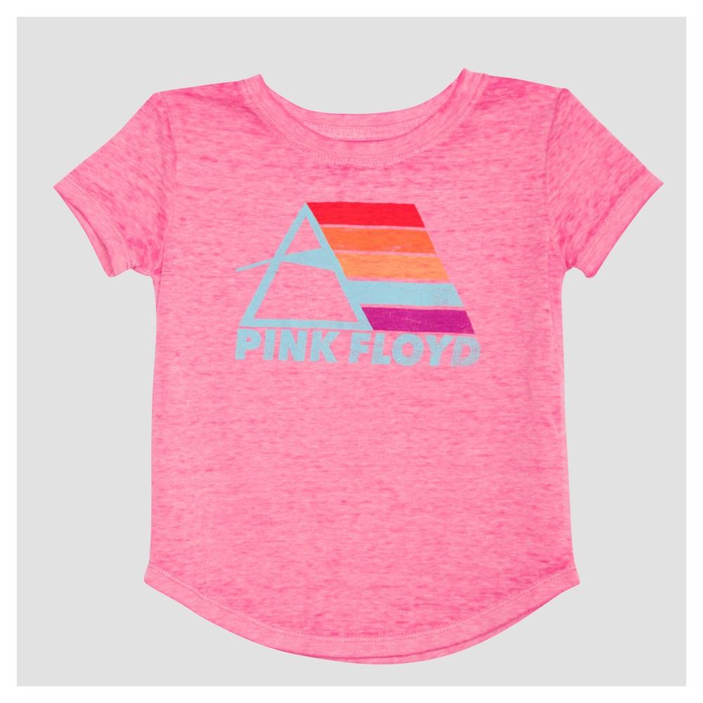 Toddler Girls Pink Floyd Mini Cap Sleeve T-Shirt - Daiquiri Pink 12M, Size: 12 M