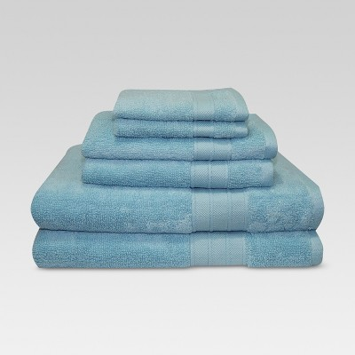 Bath Towels And Washcloths 6pc Gentle Aqua - Threshold™