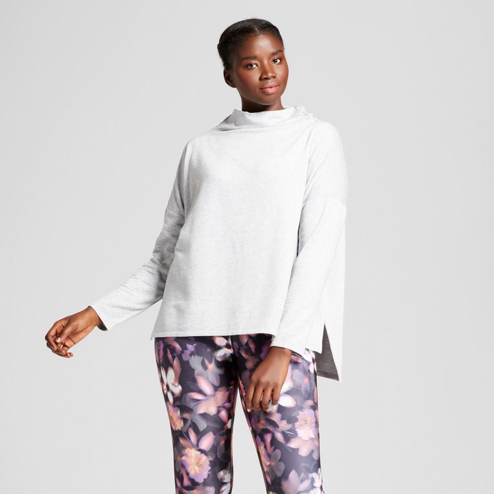 Plus Size Womens Plus Turtleneck Cozy Layering Sweatshirt - JoyLab Heather Gray 2X
