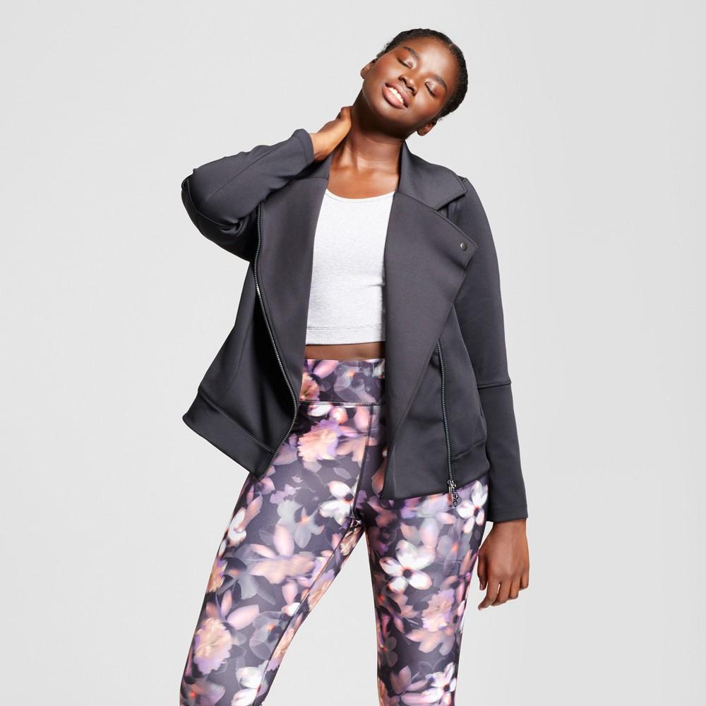 Plus Size Womens Plus Moto Jacket - JoyLab Black 3X