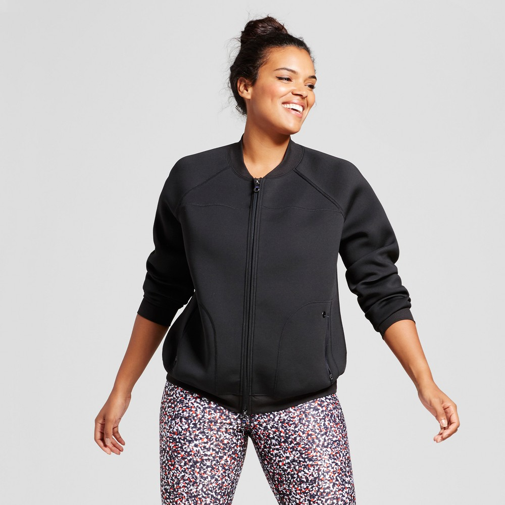 Plus Size Womens Plus Bomber Jacket - JoyLab Black 4X