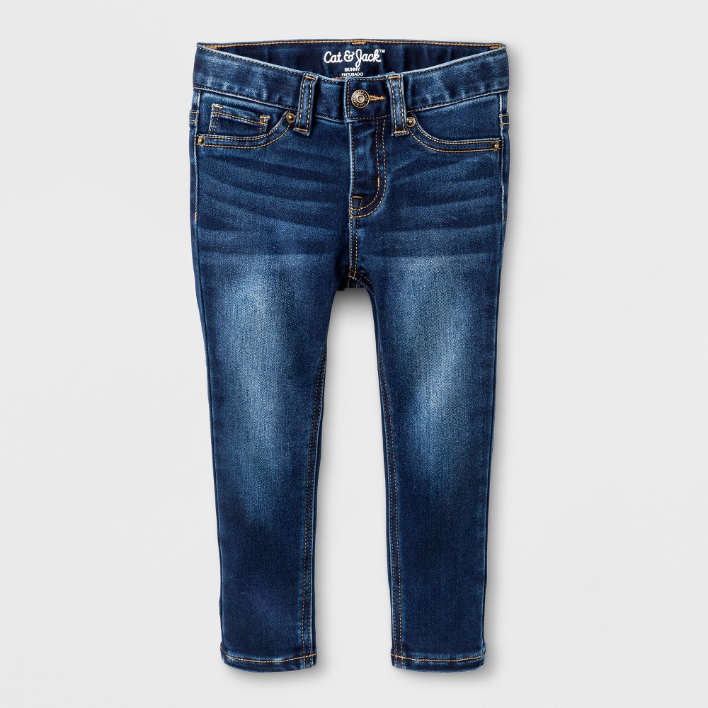 Toddler Girls Skinny Jeans - Cat & Jack Dark Blue 4T