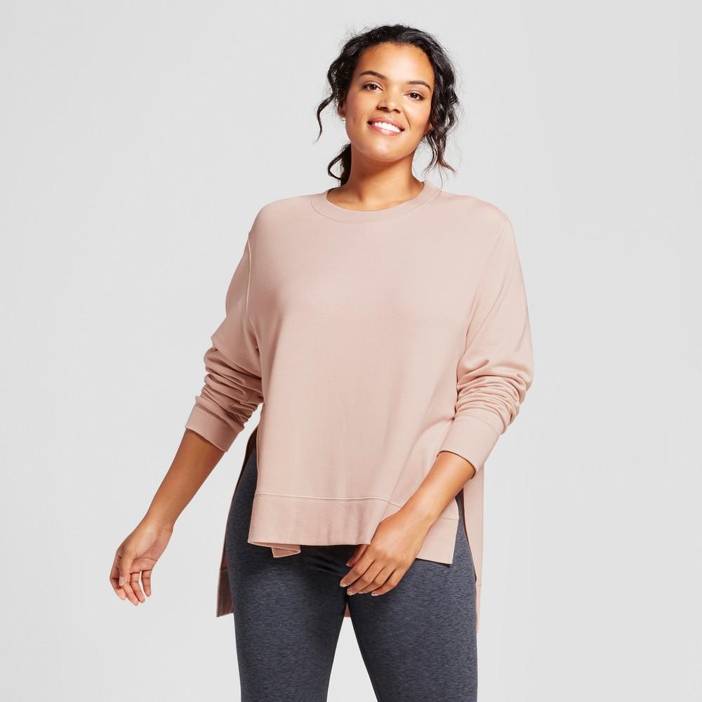 Plus Size Womens Plus Cozy Layering Sweatshirt - JoyLab Blush 4X
