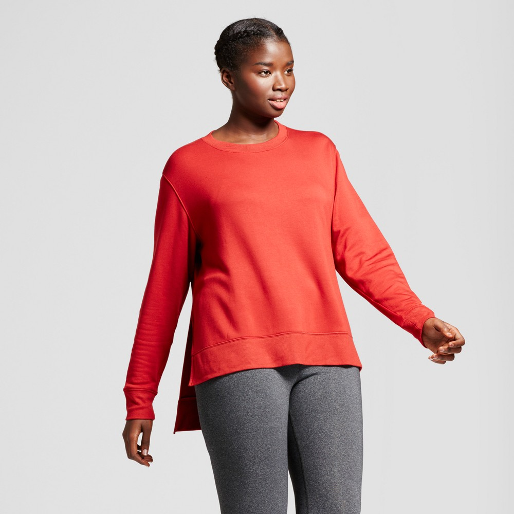 Plus Size Womens Plus Cozy Layering Sweatshirt - JoyLab Crimson (Red) 3X