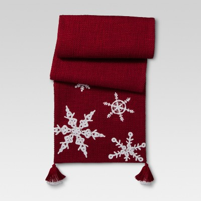 Ruby Ring Snowflakes Table Runner - Threshold™