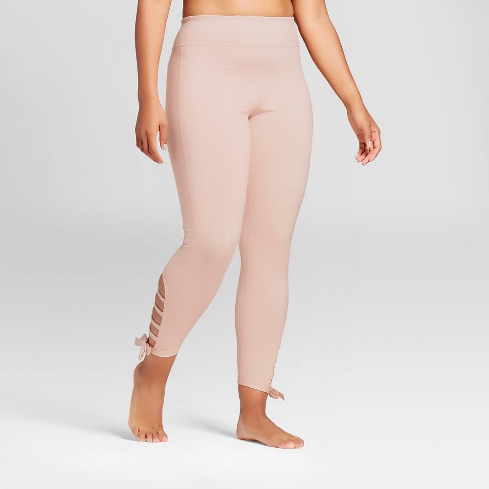 Plus Size Womens Plus Comfort Side Tie 7/8 Leggings - JoyLab Blush 1X