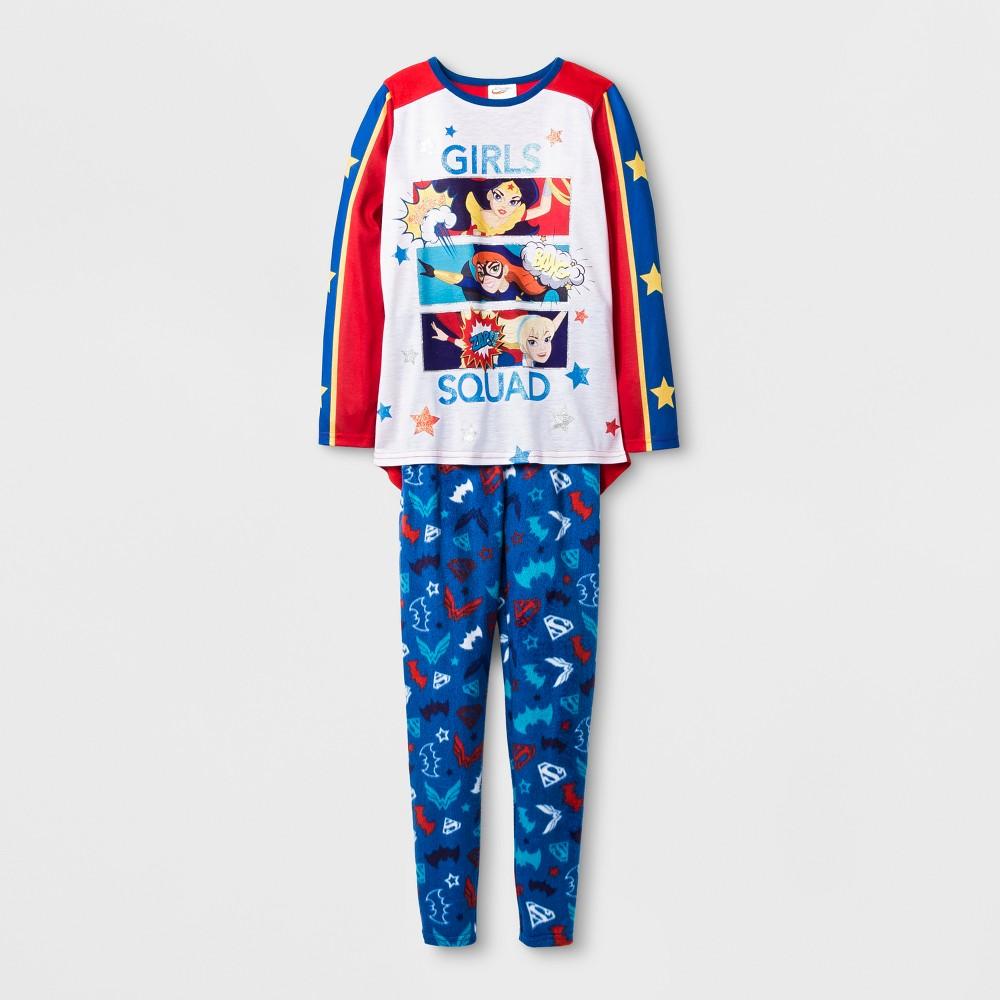 Girls' Warner Bros DC Super Hero Girls Cozy Pajama Set - Blue XS