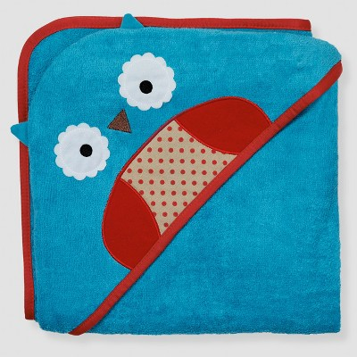 Skip Hop Baby Zoo Hooded Towel - Blue Owl